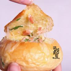 芝士鸡蛋火腿包