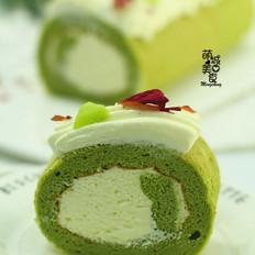 大麦若叶青蛋糕卷