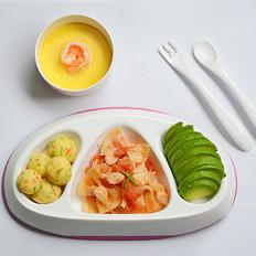 茄汁雪鱼肠蝴蝶面+蔬菜土豆球