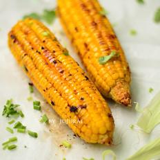 风味烤玉米