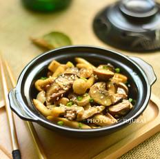 孜然菌菇煲