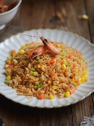 虾头油炒饭的做法
