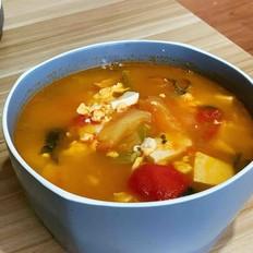 番茄豆腐菠菜汤