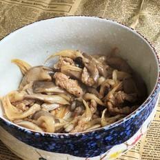 平菇炒肉片