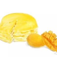 手绘食谱:芒果千层蛋糕 一口平底锅就可以做的甜品蛋糕