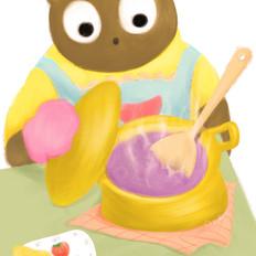 【手绘食谱】椰香水果粥  清新爽口、营养健康的水果粥