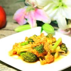 茄汁双花 宝宝辅食,西兰花+花菜+西红柿+番茄酱