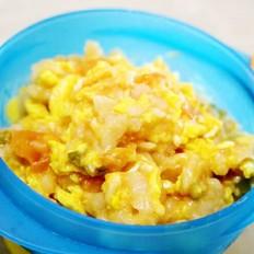 补钙番茄疙瘩面 宝宝辅食,鸡蛋+面粉+奶酪