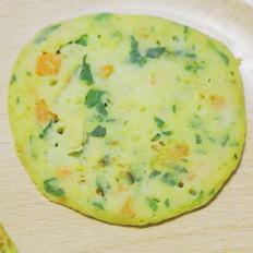 香蕉饼 宝宝辅食,鸡蛋+青菜+胡萝卜+牛奶