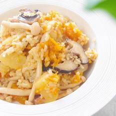 菌菇鸡肉饭 宝宝辅食,土豆+南瓜+口蘑+大米
