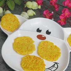 豆腐玉米饼 宝宝辅食,胡萝卜+玉米粉+牛奶