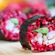牛油果甜菜根寿司