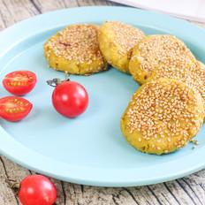 香蕉奶酪夹心红薯饼