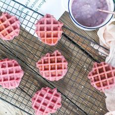 紫薯大米华夫饼