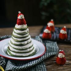 菠菜厚松餅圣誕樹——寶寶輔食的做法
