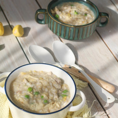 腐竹板栗豌豆肉丝粥——宝宝辅食的做法