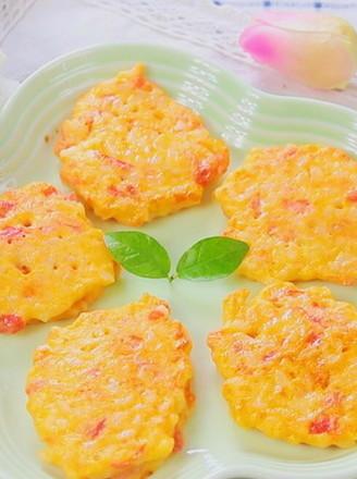 番茄鸡蛋奶酪米饼 宝宝辅食,奶香软嫩口感好的做法