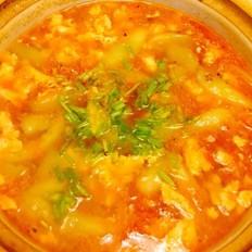 西红柿丝瓜蛋汤