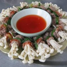 越南越美之里脊牛肉卷菇