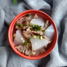 白萝卜肉片汤