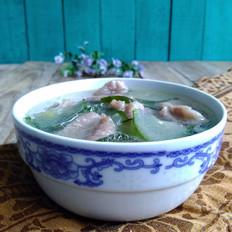 黄瓜肉片汤