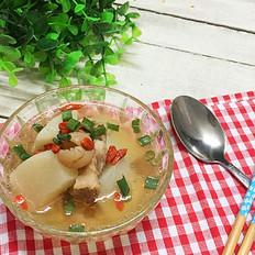 桂圆萝卜炖猪骨汤