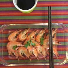 盐水煮活虾