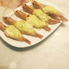 布小厨—芝士焗虾的做法