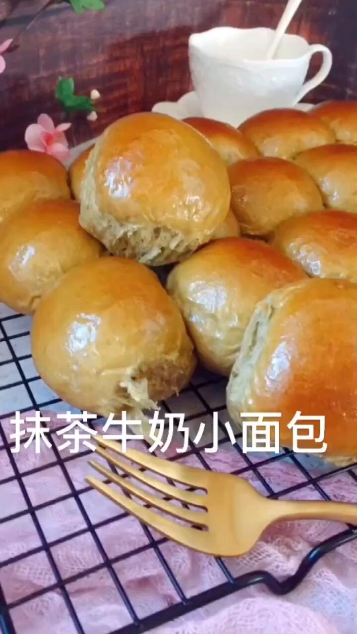 抹茶牛奶小面包