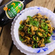 青椒炒贻贝