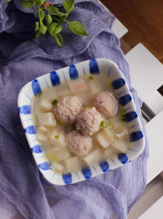 莲藕肉丸汤的做法
