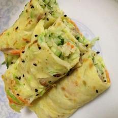 鸡蛋蔬菜摊饼