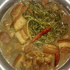 懒人做懒菜之红烧肉炖干豆角