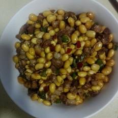 炒黄豆的做法