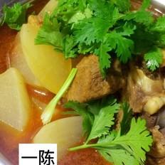 红烧羊肉萝卜汤