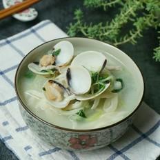 父亲的味道——蛤蜊肉丝青菜手擀面