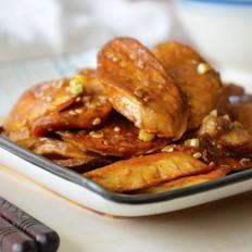【沙茶杏鲍菇】,很有肉感的素菜~
