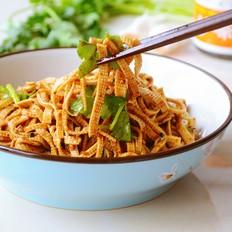 家常拌豆腐丝,吃就需两招~