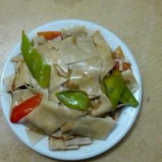 干豆付炒尖椒。