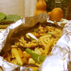 锡纸包烤杂菌菇
