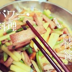 特色什锦炒香肠