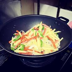 风味土豆炒火腿