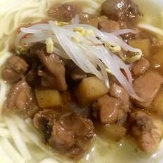 土豆烧鸡汤面