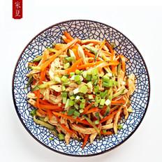『家夏』快手菜 简易版凉拌鸡丝 好吃易做零失败