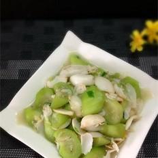丝瓜虾皮百合
