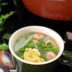 山药豌豆虾仁汤