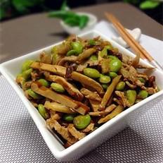 榨菜香干炒毛豆