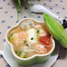 豆腐虾仁一锅鲜