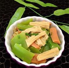 腐竹炒莴笋