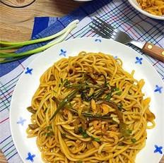 海米榨菜葱拌面